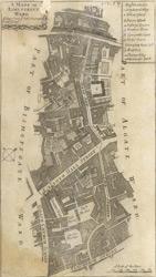 A mapp of Lime Street ward. Taken from ye last surveys & corrected (1720)